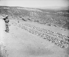 Remains of dead to be interred at Chunuk Bair Cemetery post war Ww1 Art, Lest We Forget, World War One, Wwi, Cemetery, Around The Worlds, Ottoman Empire, History, Distance