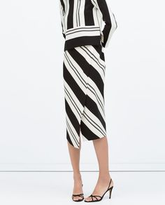 Image 2 of STRIPED SARONG SKIRT from Zara