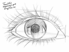 Как нарисовать глаз карандашом 3