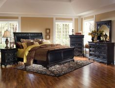 the furniture antique black finished wooden bedroom set with sleigh bed london town antique black bedroom furniture