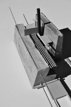"The ARCHive Daniel Houghton, USF School of Architecture, Class of 2014 Design II: ""Miami artist live/work construct"" - Spring Prof. Architecture Design, Concept Models Architecture, Architecture Model Making, Concrete Architecture, Architecture Panel, Architecture Student, Architecture Drawings, Model Building, Tectonic Architecture"