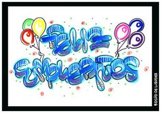 Letras Timoteo nombres - Imagui Caligraphy, Letters And Numbers, Smurfs, Diy And Crafts, Balloons, Fonts, Happy Birthday, Clip Art, Lettering