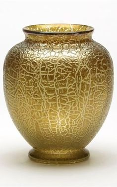 Details about  LOETZ ART NOUVEAU GOLDEN CRACKLE FINISH ART GLASS VASE 1910