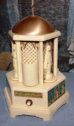 Swiss Harmony Inc. (Chicago, Ill.)  /  with Thorens  Movement  large  Religious Music Box by ourPastourFuture on Etsy