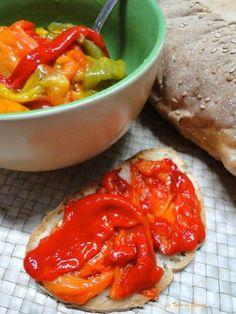 Peperoni arrosto cotti al microonde