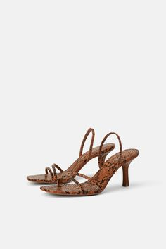 d7429a61 MID - HEIGHT HEELED ELASTIC STRAP SANDALS-Heeled Sandals-SHOES-WOMAN | ZARA