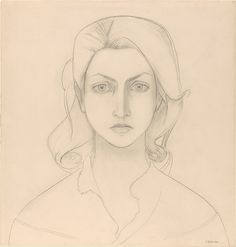 Françoise Gilot: Self-Portrait Full Face, graphite on paper © The Metropolitan Museum of Fine Art, New York Pablo Picasso, Art And Illustration, Francoise Gilot, Portraits, Musa, Face Art, Art Google, Artist At Work, Art History
