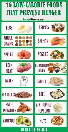 16 Most Filling Low-Calorie Foods to Prevent Hunger - Nutrition - Kalorienarme Rezepte Filling Low Calorie Meals, No Calorie Snacks, Low Calorie Recipes, Low Carb Diet, Diet Recipes, Healthy Recipes, Low Calorie Diet Plan, Foods With No Calories, Low Calories