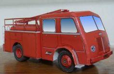 Papermau: French Fire Brigade Truck Berliet GLA Paper Model - by Ronaldo M