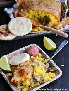 Lechona Tolimense (Colombian-Style Stuffed Pork) by My Colombian Recipes Peruvian Recipes, Cuban Recipes, Pork Recipes, Cooking Recipes, Free Recipes, Colombian Dishes, Colombian Cuisine, Colombian Recipes, Gastronomia