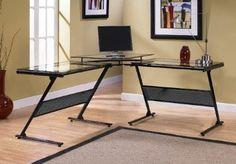 Desk, Multi - Black Modern Office Home Furniture Writing Computer