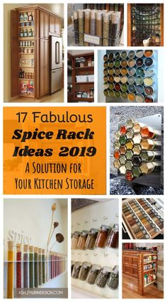 17 Fabulous Spice Rack Ideas 2019 (A Solution for Your Kitchen Storage) Pallet Spice Rack, Wooden Spice Rack, Wall Mounted Spice Rack, Wall Racks, Spice Rack Design, Clever Kitchen Ideas, Smart Kitchen, Cleaning Granite Countertops, Kitchen Countertops