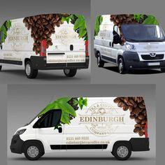 Design a show stopping Van Wrap for Edinburgh Tea and Coffee Co. Design by wong Vehicle Signage, Van Wrap, Van Design, Ford Transit, Car Detailing, Edinburgh, Automobile, Wraps, Branding