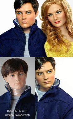 Spider Man by Noel Cruz Twilight Dolls, Barbie Celebrity, Doll Painting, Doll Repaint, Barbie Collection, Doll Maker, Barbie World, Disney Fun, Hollywood Stars