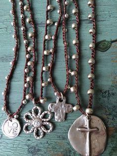 Bohemian style crochet 925 silver beads by MarleeLovesRoxy on Etsy
