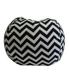 Take a look at this Black & White Zigzag Beanbag by Newco on #zulily today!