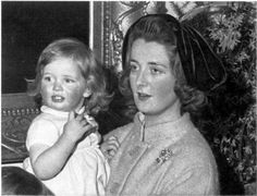 Diana, Princess of Wales as a young child with her mother.