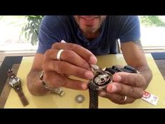 Changing A Fossil Watch Battery - YouTube