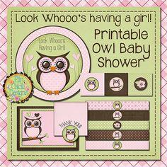 Printable Owl Baby Shower