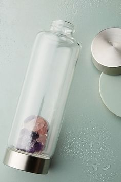 I really want one of those gem infusing water bottles. Regardless to if they work or not - they look so cool! VitaJuwel ViA Wellness Gem-Water Bottle Best Water Bottle, Infused Water Bottle, Water Bottles, Plastic Bottles, Isle Of Man, Clear Quartz, Rose Quartz, Three Birds Renovations, Glass Vials