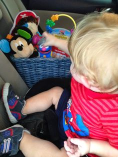 Tips for taking road trips with one year olds.  #toddlers #roadtrip #longdrive