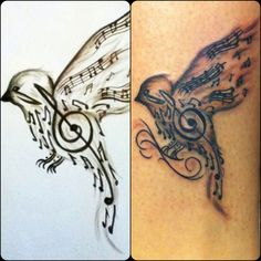 My first tattoo <3 #Songbird
