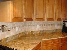 Kitchens : Custom Kitchen Tile Design Ideas With Finished Kitchen  Backsplash Design Ideas Using Mixed Tile Types Don't