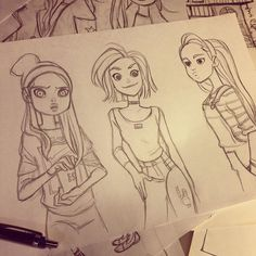 Instagram media by anna_cattish - ⭐️⭐️⭐️ #sketching #girls