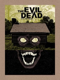 """kogaionon: """"The Evil Dead by Chris Garofalo / Twitter / Tumblr / Instagram / Store 18″ x 24″ 4 color screen print on Mr. French Paper Bag Kraftone stock, signed & numbered edition of 35. Available..."""