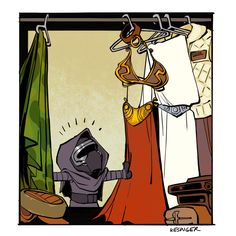 little-kylo-ren-finds-his-moms-slave-outfit-in-new-calvin-hobbes-star-wars-art