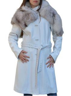 Cappotto donna in Pelle e Pelliccia mod. Janet - Pellein.com