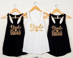 Bride Squad shirts, Bridal party shirts, Bridesmaid gift, bridesmaid shirt, bridal shirts, Bachelorette party shirts, Bridesmaid tank D144