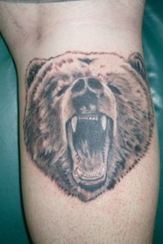 Grizzly Bear Tattoo #tattooideaslive #grizzly #bear #tattoos