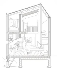 Detailed section perspective by Team D's proposal : @yalebuildingproject2017