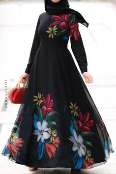 New modest dresses for this season Modest Maxi Dress, Floral Dress Outfits, Modest Dresses Casual, Modest Outfits, Chiffon Dress, Modest Clothing, Maxi Dresses, Ladies Dresses, Cape Dress