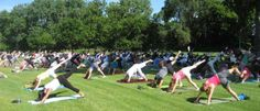 Beginners Yoga at Gray's Lake, Saturdays at 9.  It's free!  It's summer!  It's yoga!