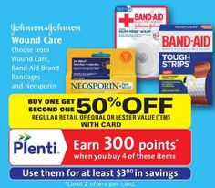 Band-Aid First Aid Products Only $0.59 At Rite Aid After BOGO 50% Off Sale, Printable Coupon, and Plenti Points Reward!