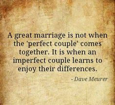 A great marriage...