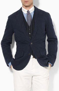 "Polo Ralph Lauren ""Langley"" sportcoat looks great in this combination."