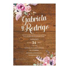 Invitaciones Florales & Botánicas - Invitaciones Mi Diseño Costa Rica www.invitacionescr.com #wedding #invitations #floral
