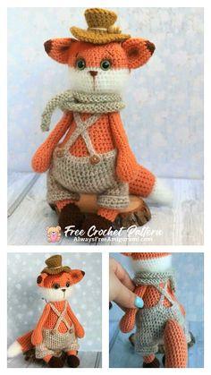 Crochet Fox, Free Crochet, Step By Step Crochet, Cute Fox, Learn To Crochet, Free Pattern, Crochet Patterns, Teddy Bear, Toys