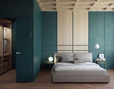GREEN WOOD BEDROOM on Behance