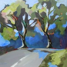 Daily Painting, Release, contemporary landscape, painting by artist Carolee Clark