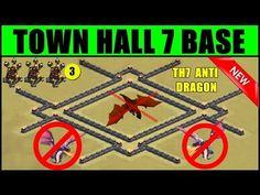 Clash of Clans Town Hall 7 War Base Three Air Defense ♦ CoC TH7 3 Air Defense ♦ War Trophy Hybrid - YouTube