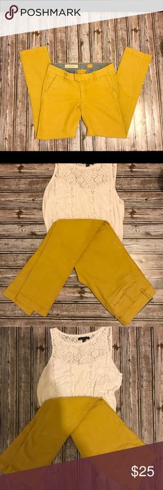 Anthro golden pants Pilcro and the letterpress pants from anthropologie Lovely golden color. Soft and comfortable material. Feel free to make an offer or ask questions. Anthropologie Pants Skinny