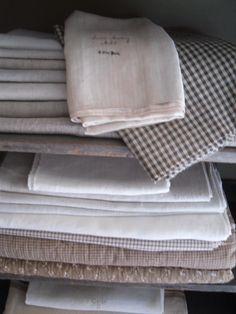 early linen and brown homespun