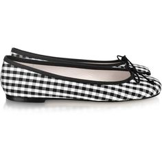 These are so cute! Ballerinas Black and White Check Ballerina Shoes found on Polyvore