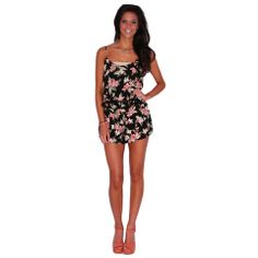 Love Birds Romper | Impressions  This little floral romper will turn heads as you window shop in your favorite vacation spot! Pair it with strappy sandals and a pretty hat and you'll look effortlessly cool as you relax in style!
