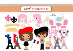France Dolls of the World Clipart PNG Personal & by KPWgraphics