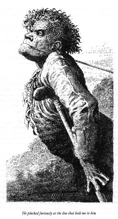 Melvyn Peake's Treasure Island illustrations